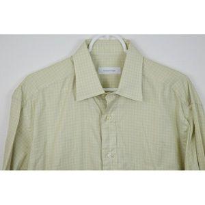 Ermenegildo Zegna 16.5 Plaid Shirt Button Up
